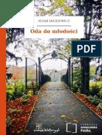 Adam Mickiewicz - Oda Do Mlodosci