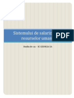 Sistemului de Salarizare Al Resurselor Umane
