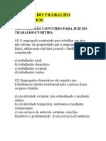 DIREITO DO TRABALHO-EXERCÍCIOS
