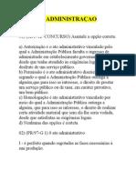 EXERCÍCIOS GERAIS DE DIREITO ADMINISTRATIVO