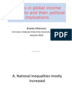 Trends in global income inequality and their political implications