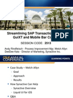 Streamlining SAP Transactions Using GuiXT and Mobile Bar Coding