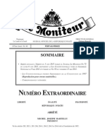 Consttution Amendee de La Republique d' Haiti Du 19 Juin 2012