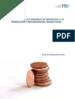 Proyecto Incentivo Producción y Prevención Fraude Fiscal