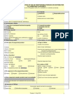 SUE FORM a - Notification of Sue by Responsible Person or Distributor to Competent Authority