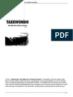 Conheca o Livro Taekwondo Arte Marcial e Cultura Coreana
