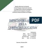 Impacto de Ls Tic en La Gestión Educativa