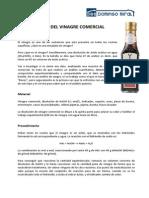 Analisis Del Vinagre Comercial