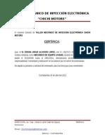 El Gerente General de Taller Mecánico de Inyección Electrónica Chichi Motors