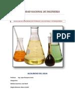 Alcalinidad y Acidez Del Agua