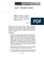 Avanzada Tecnologia y Servicios - Resolucion OSCE No 1138 2011 TC S4