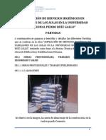 Ampliación de Servicios Higiénicos en Pabellones de Las Aulas en La Universidad Nacional Pedro Ruíz Gallo