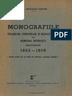 G.T.Niculescu-Varone - Bibliografia monografiilor oraşelor, comunelor şi mănăstirilor din România reîntregită (1855-1938)