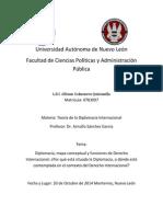 Diplomacia, mapa conceptual y funciones de Derecho Internacional