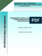 Lineamientos Para Planes Maestros Areas Nacionales Del Sigap