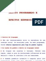 Desvio Programado e Efeitos Expressivos