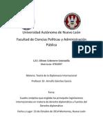 Cuadro sinóptico que englobe las principales legislaciones internacionales en materia de derecho diplomático y Fuentes del Derecho diplomático