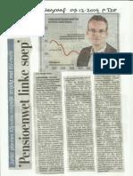 Pensioenwet 2015 weg te procederen