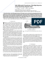 (6) Design of a Linear Variable Differential Transformer With High Rejection to External Interfering Magnetic Field