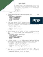 CUESTIONARIO Anatomia de Riñon y Vias Urinarias