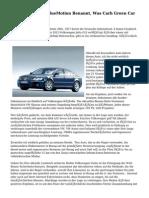 Volkswagen Golf BlueMotion Benannt, Was Carh Green Car Jahr