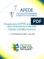 Propuesta APEDE para la Cumbre Climática en Lima COP20