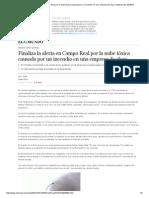 Finaliza La Alerta en Campo Real Por La Nube Tóxica Causada Por Un Incendio en Una Empresa de Cloro _ Madrid _ EL MUNDO