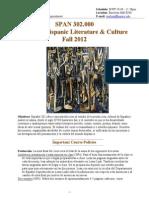 Contemporary Latin American Literature Survey Syllabus