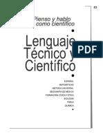 Lenguaje Tecnico y Cientifico - Segundo Grado