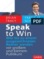 Brian Tracy & Frank M. Scheelen - Speak to Win