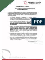 Comunicado N° 6 - Contraloría precisa competencias legales frente a denuncia de ex procuradora