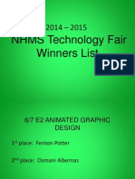 2014  2015 technology fair winners and categories nhms and e2