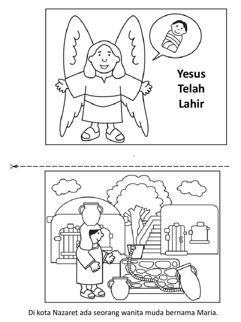 Yesus Telah Lahir Buku Mewarnai