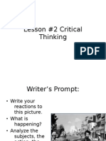 #2 Critical Thinking