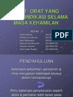 PPT obat - obat kontraindikasi oleh wanita hamil