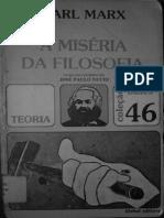 Karl Marx - Miséria Da Filosofia