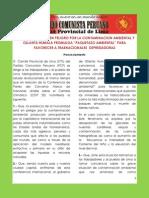 PCP Lima Sobre Defensa de Medio Ambiente