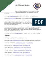 001 leadership tasks and useful information