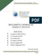 Reglamento de Grados y Titulos UPCI