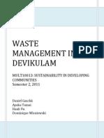 Waste Management in Devikulam