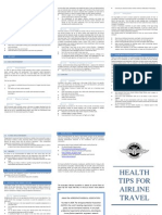 Health Tips for Airline Travel Trifold 2013
