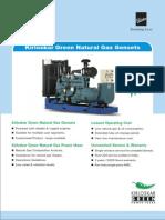 Natural Gas Gensets
