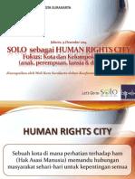 Konferensi HAM 2014 - Kota Solo sebagai Kota Ramah HAM