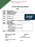 005 program running sheet template