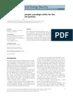 Cambios de Paradigma Para Los Sistemas Alimentarios Justos y Sostenibles