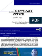 EVRElectricals PVT LTD - Industrial Refrigeration