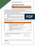 Document Attestation Checklist