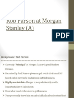 Rob Parson at Morgan Stanley (a) Case Questions