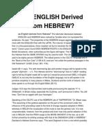 Velški i Hebrejski