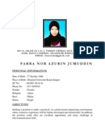 Resume Farra Nor Azurin Jumuddin